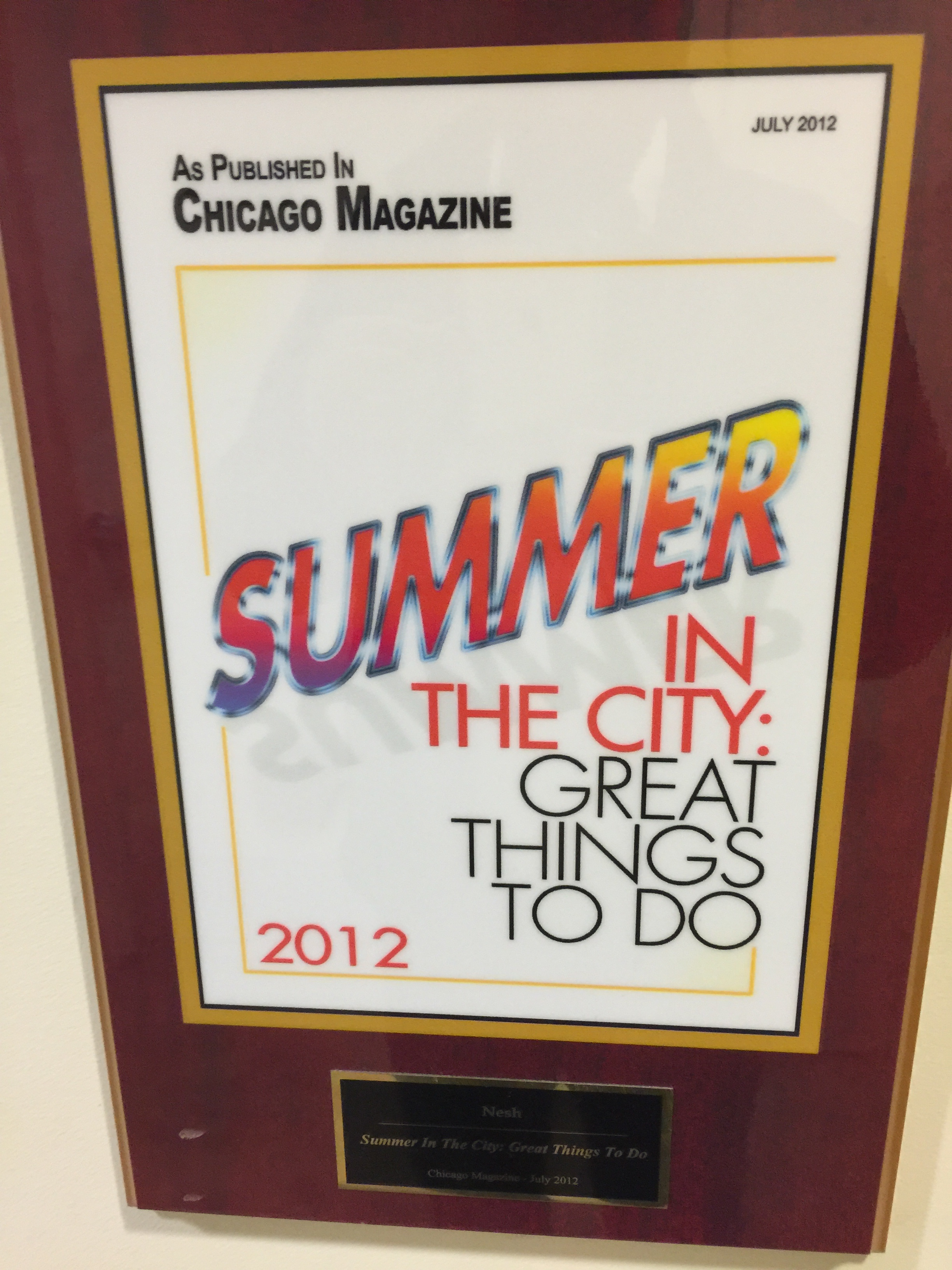 As published in Chicago Magazine