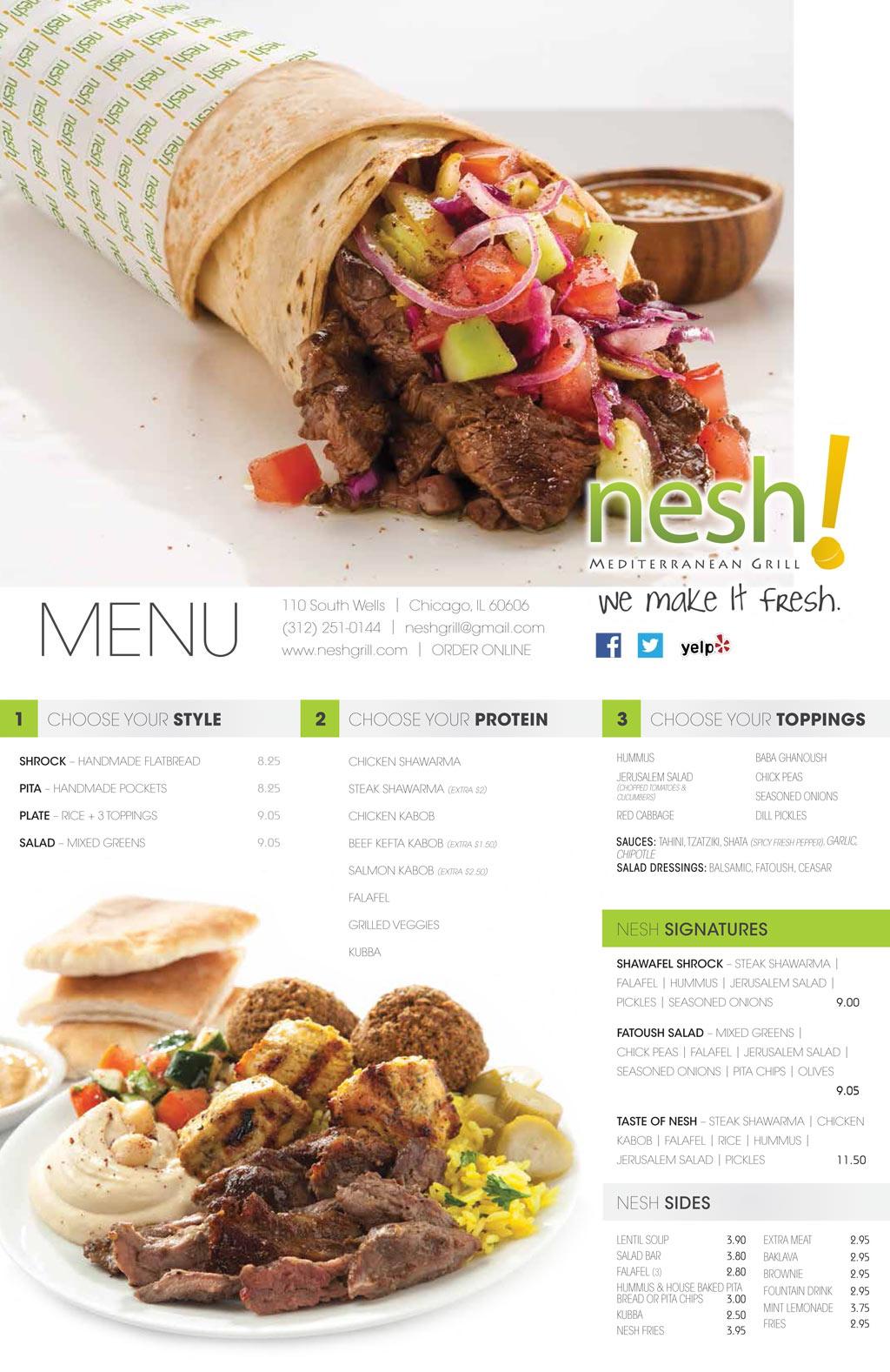nesh-store-menu